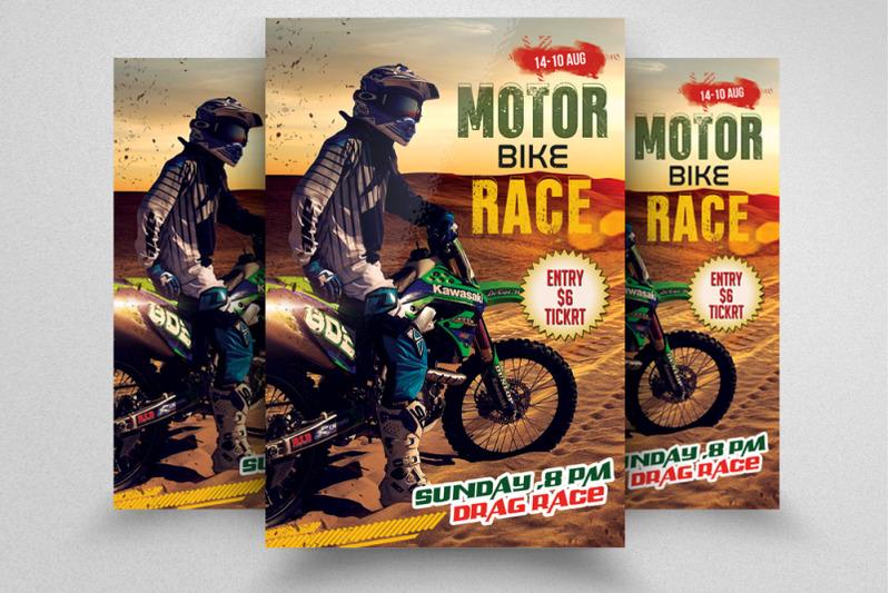motorbike-racing-flyer