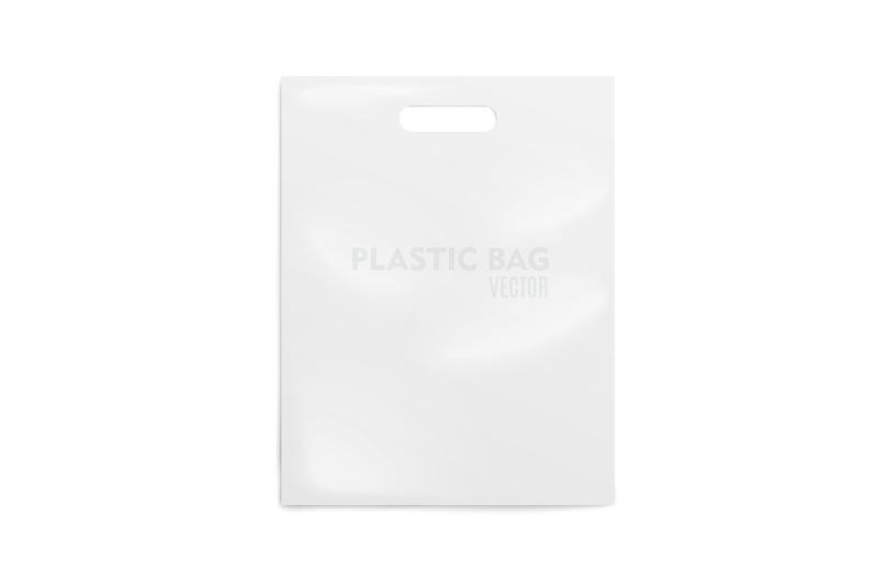 Free Realistic Plastic Bag. Mockup (PSD Mockups)