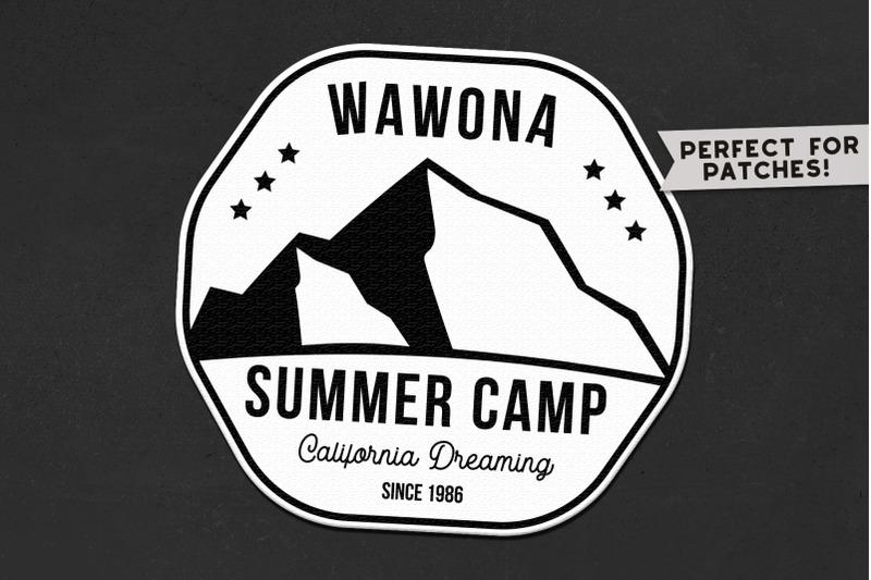 summer camp logo template  retro california badge svg file by jekson graphics