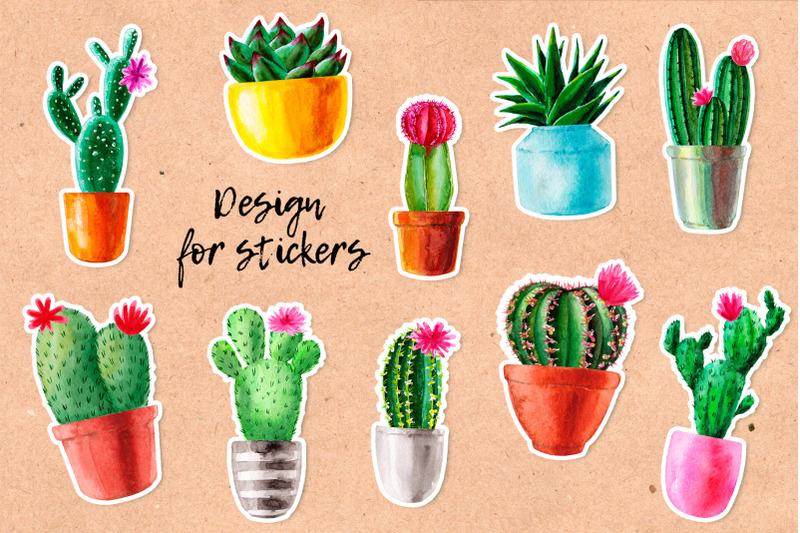 watercolor-cactus-cacti-patterns