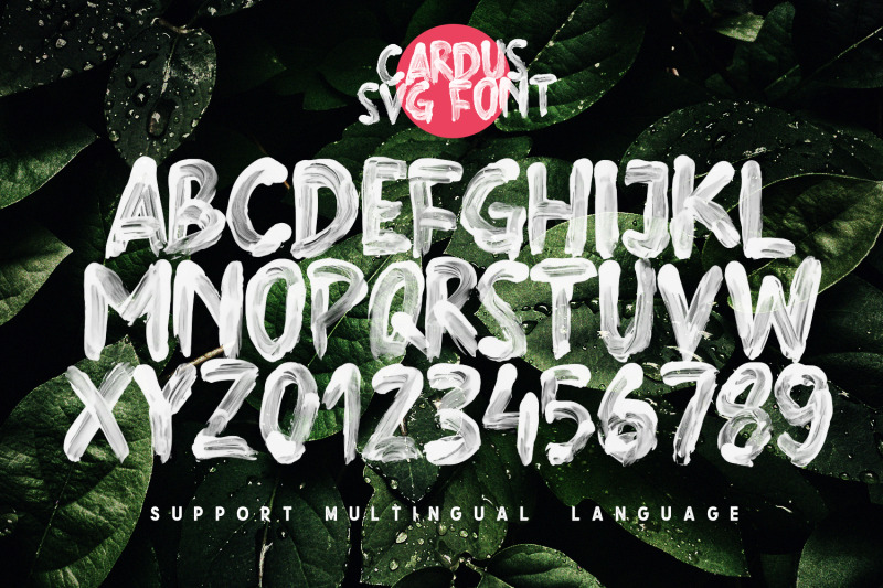 cardus-brush-svg-font