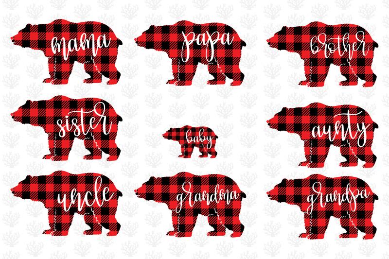 mama-bear-bufflao-plaid-family-svg-bundle