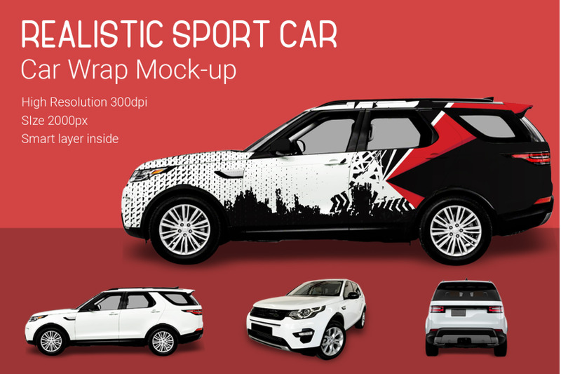 Free Sport Car Mock-Up (PSD Mockups)