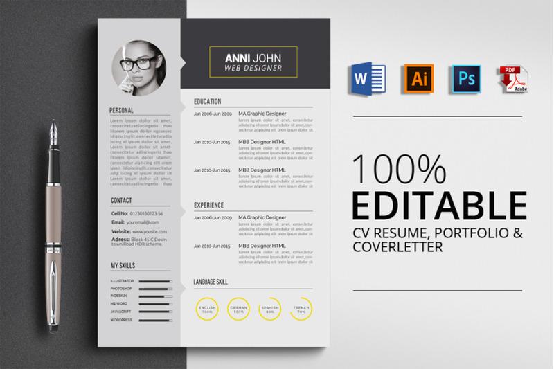 job-cv-resume-word-template