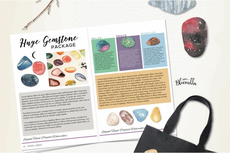 101-gemstones-watercolor-package-elements-gem-stones-crystals-clipart
