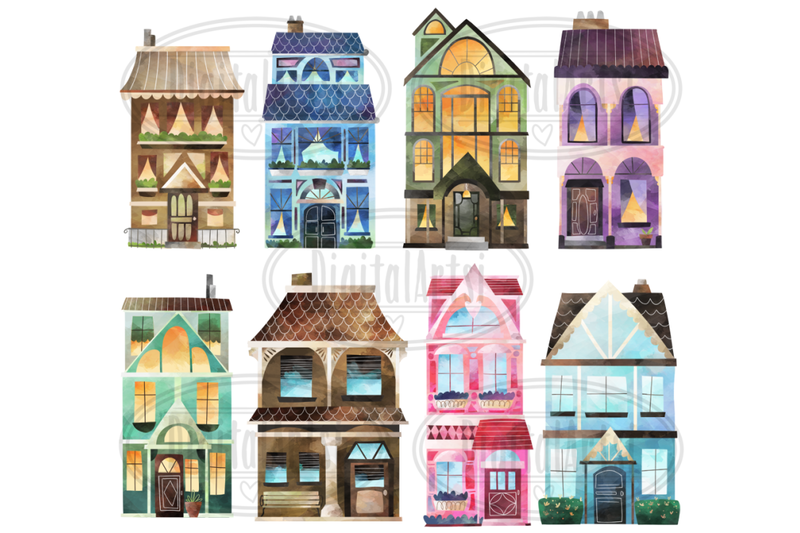 watercolor-house-clipart