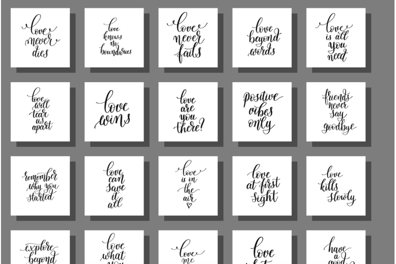 Love And Life Mega Set Quotes By Karakotsya Thehungryjpeg Com