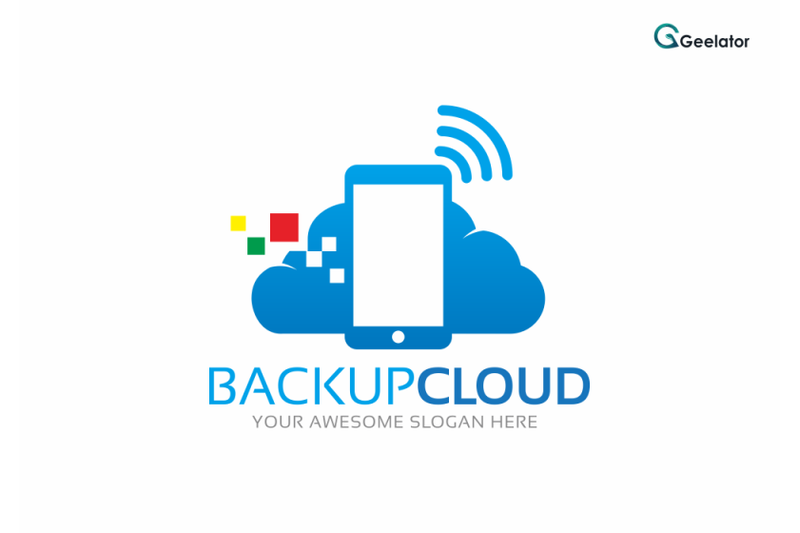 backup-cloud-logo-template