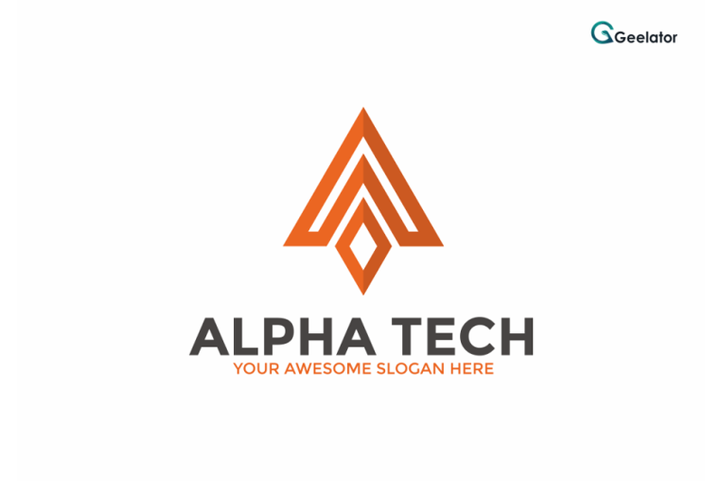 alpha-tech-logo-template