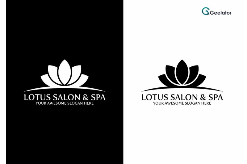 lotus-salon-amp-spa-logo-template