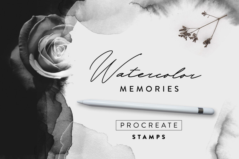 watercolor-memories-procreate-stamps