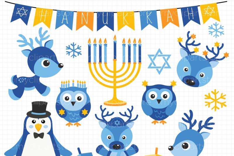 hanukkah-animals-friends-vector-clipart