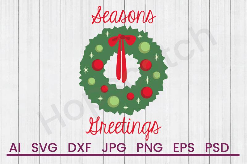seasons-greetings-svg-file-dxf-file