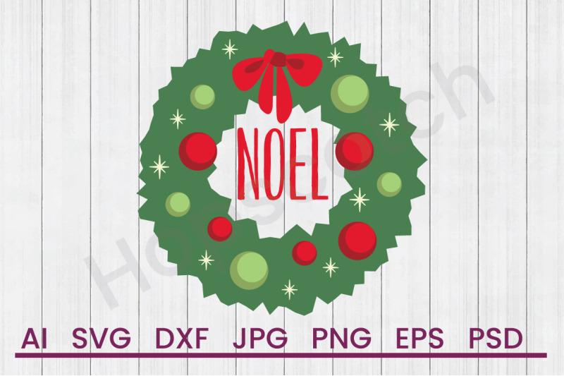 noel-wreath-svg-file-dxf-file