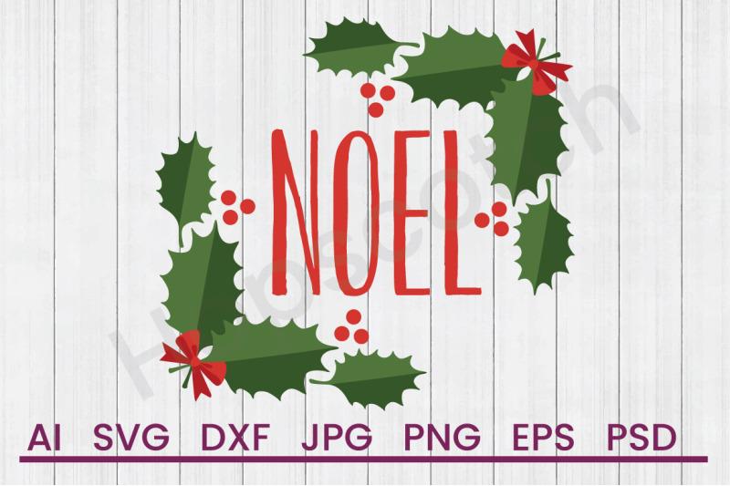 holly-noel-svg-file-dxf-file