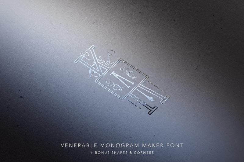 venerable-monogram-maker-font
