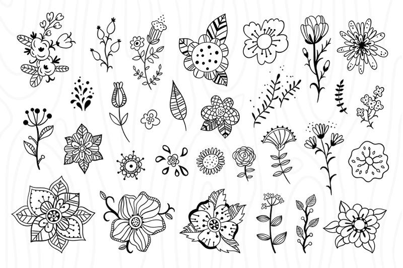 outline-florals