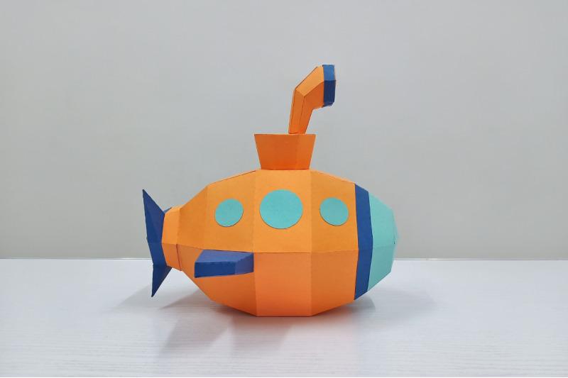 diy-submarine-3d-papercraft