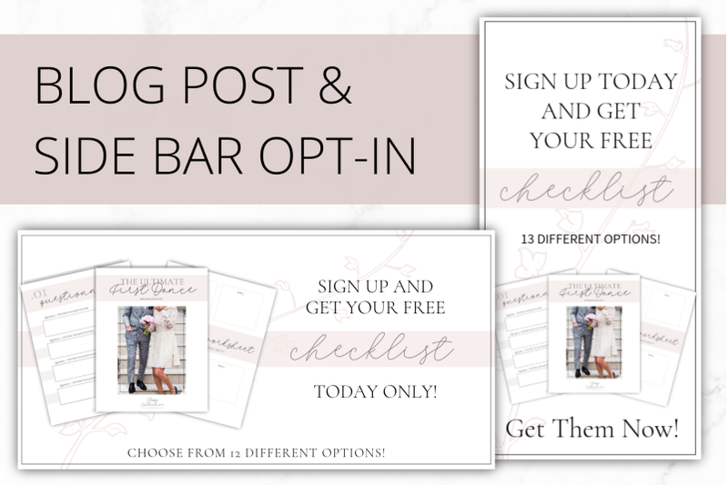 Canva Classy Opt-in Freebie Templates By Lady Boss Studio