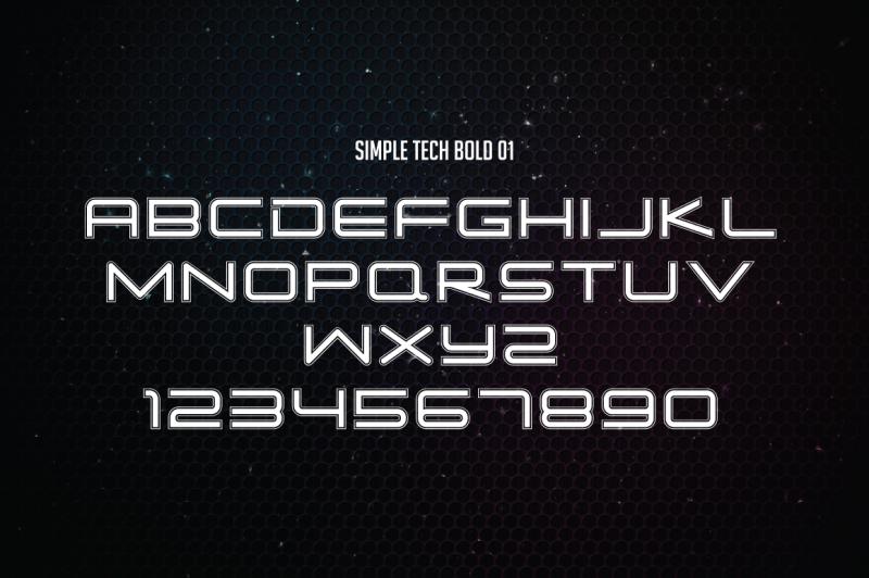 simple-tech-typeface