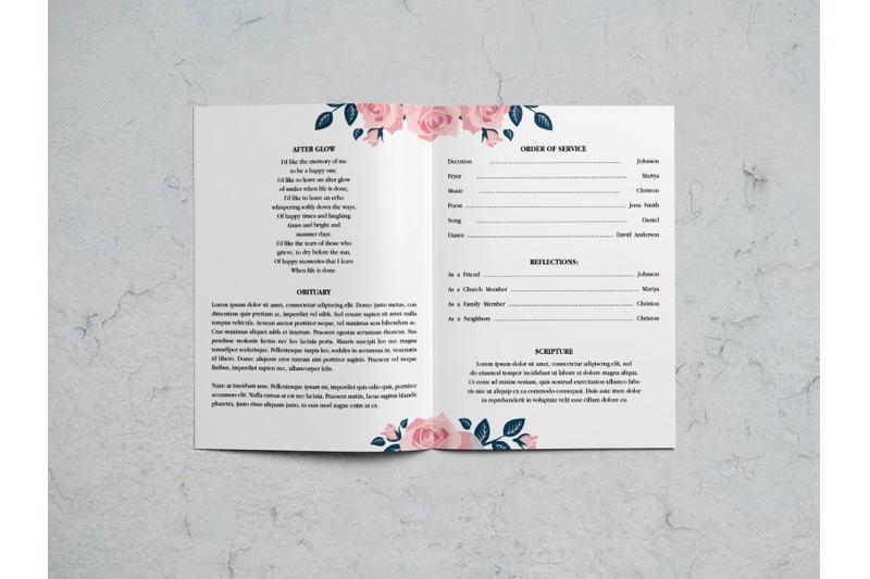 rose-watercolor-funeral-program-template