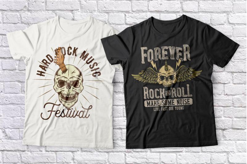 rock-music-t-shirts-set