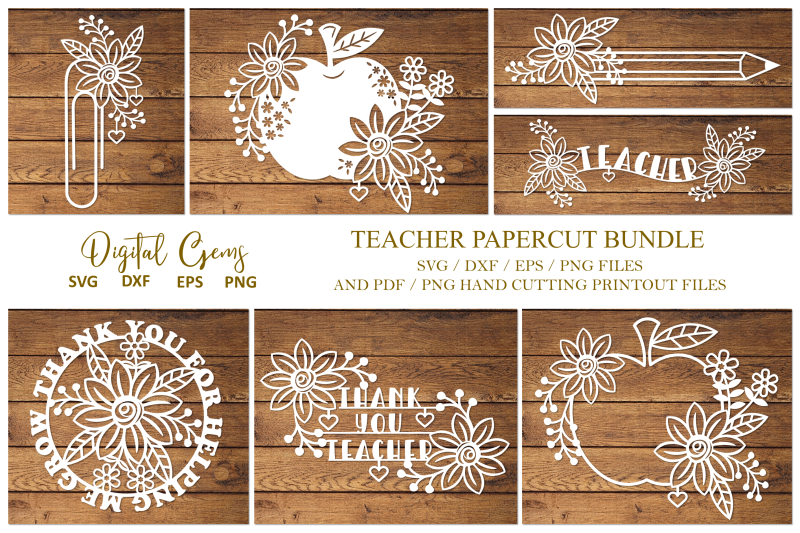 teacher-paper-cut-bundle