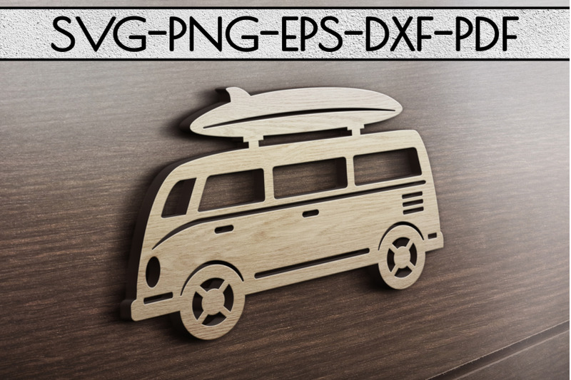 summer-surf-papercut-template-bus-with-surf-board-svg-dxf