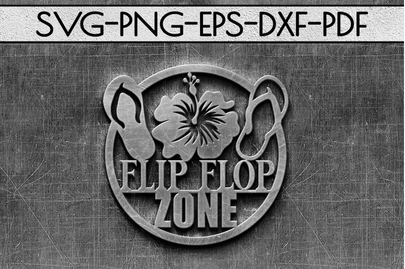flip-flop-zone-papercut-template-beach-house-decor-svg-dxf
