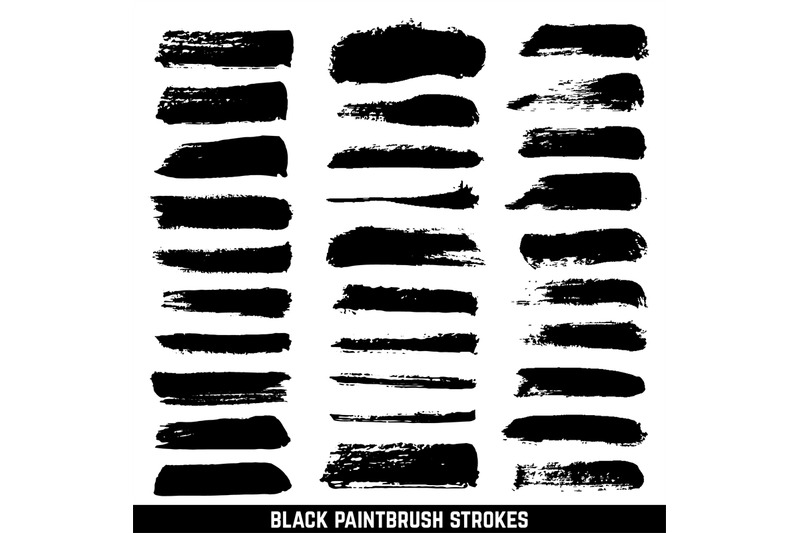 vector-artistic-ink-paint-blob-brushes-inked-brushed-strokes-isolated