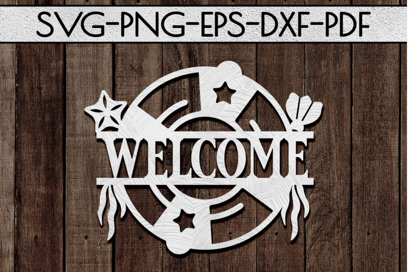 welcome-sign-papercut-template-beach-house-decor-svg-dxf