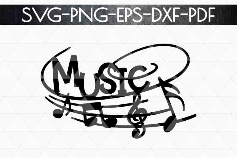 Music Sign Papercut Template Treble Clef Musical Svg Dxf By