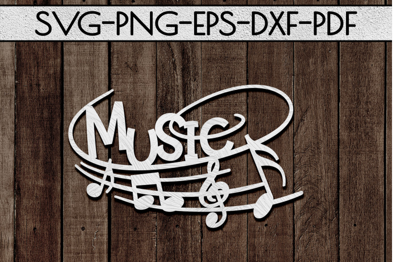 music-sign-papercut-template-treble-clef-musical-svg-dxf