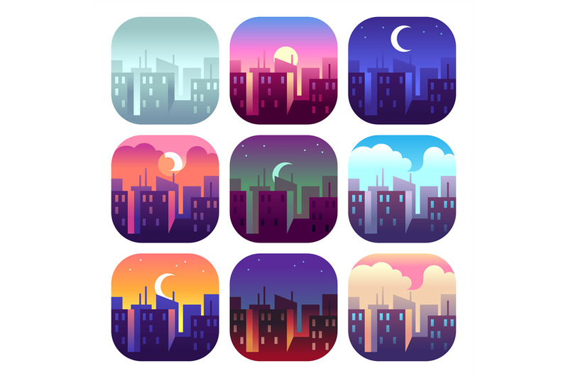 city-day-times-early-morning-sunrise-sunset-noon-and-dusk-evening-n
