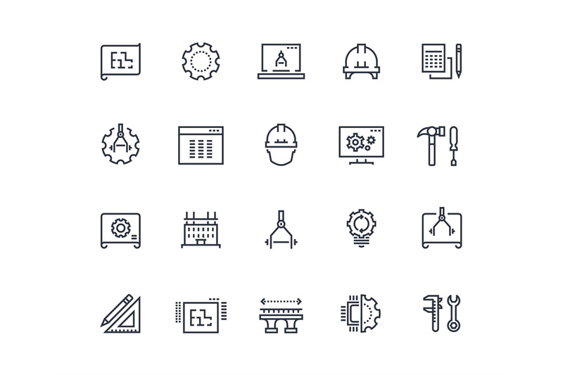 engineering-line-icons-work-project-mechanical-and-electrical-engine