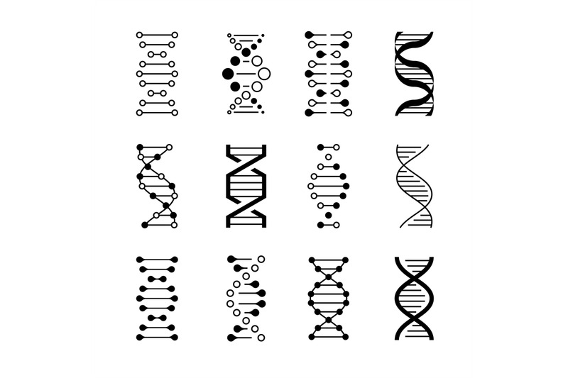 dna-icons-genetic-structure-code-dna-molecule-models-isolated-on-whi
