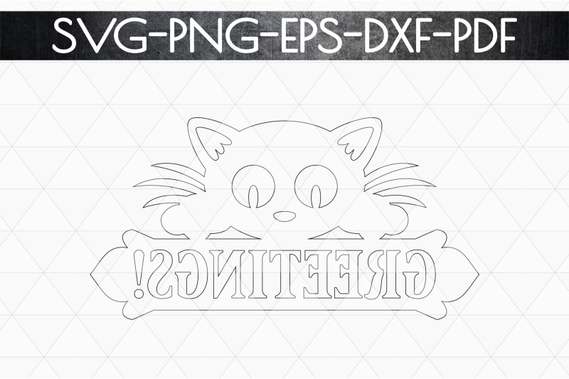 greetings-sign-papercut-template-cat-house-decor-svg-dxf