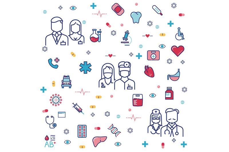 medicinal-concept-design-with-hospital-staff-equipment-pills