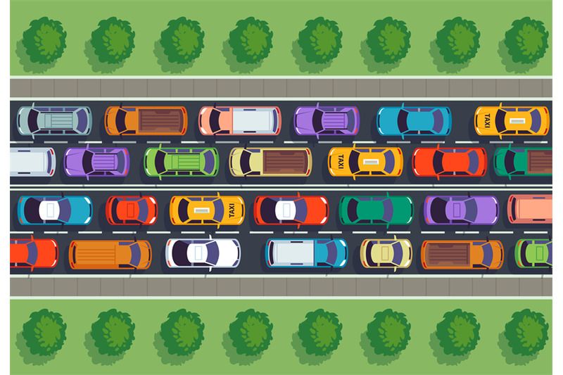 traffic-jam-top-view-many-cars-on-highway-different-vehicles-from-ab