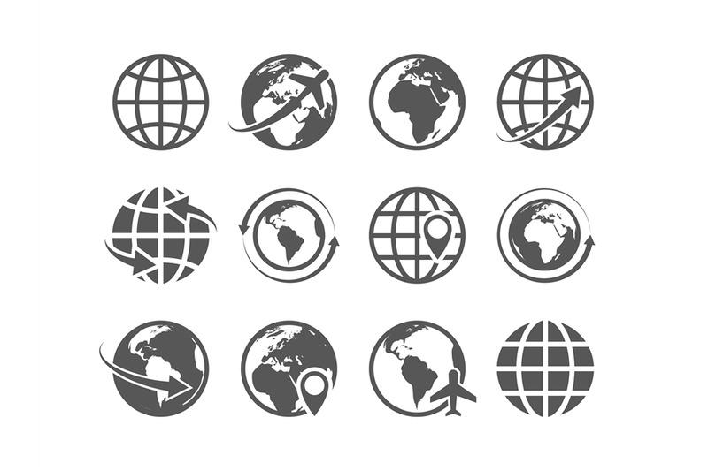 globe-icons-set-world-earth-globe-map-internet-global-commerce-touris