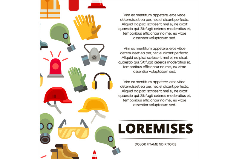 colorful-flat-personal-protective-equipment-icons-poster-design