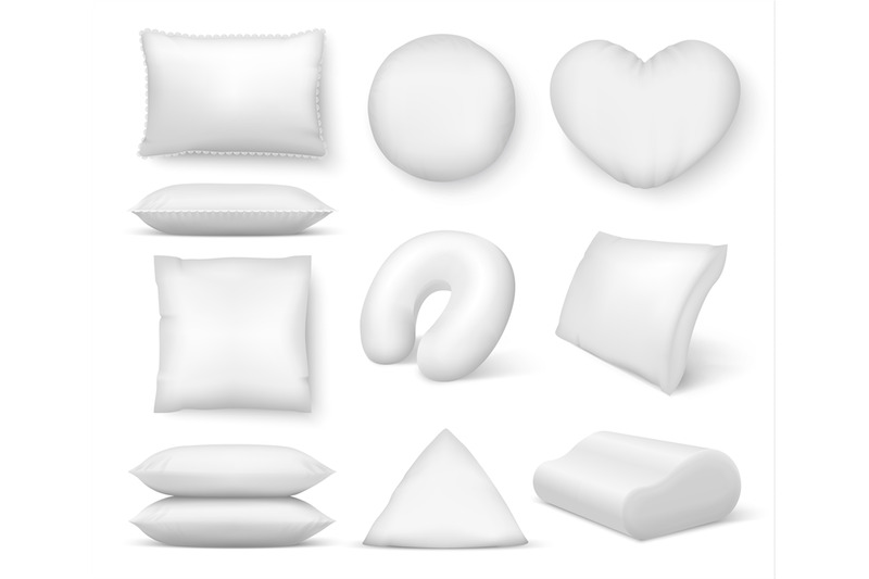 realistic-white-cushion-square-comfort-bed-pillow-soft-blank-round-c