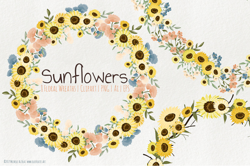 sunflowers-floral-wreaths-graphics-and-clipart