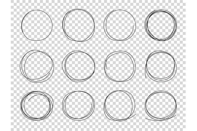 sketch-circles-hand-drawn-circled-frames-circular-scribble-doodle-bl