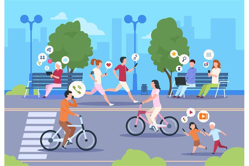 flat-internet-urban-street-city-wifi-people-walking-in-park-town-land