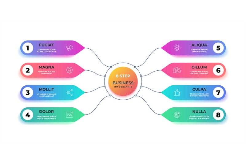 step-3d-infographic-realistic-circle-graphic-chart-round-business-gr