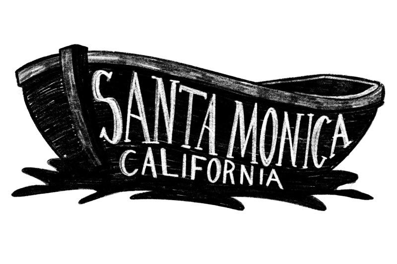 santa-monica-beach-california-boat