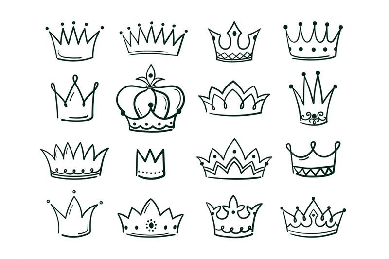 hand-drawn-crown-sketch-crowns-queen-coronet-simple-elegant-black-cro