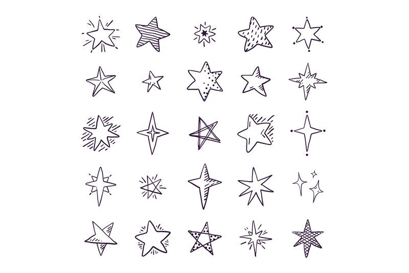 doodle-stars-cute-pen-sketch-space-elements-simple-geometric-set-ha