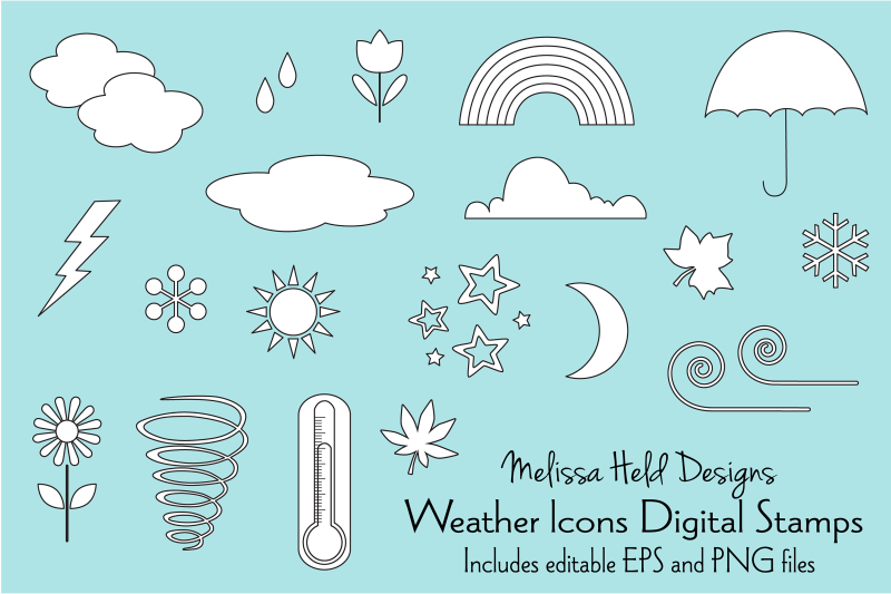 weather-icons-digital-stamps-clipart
